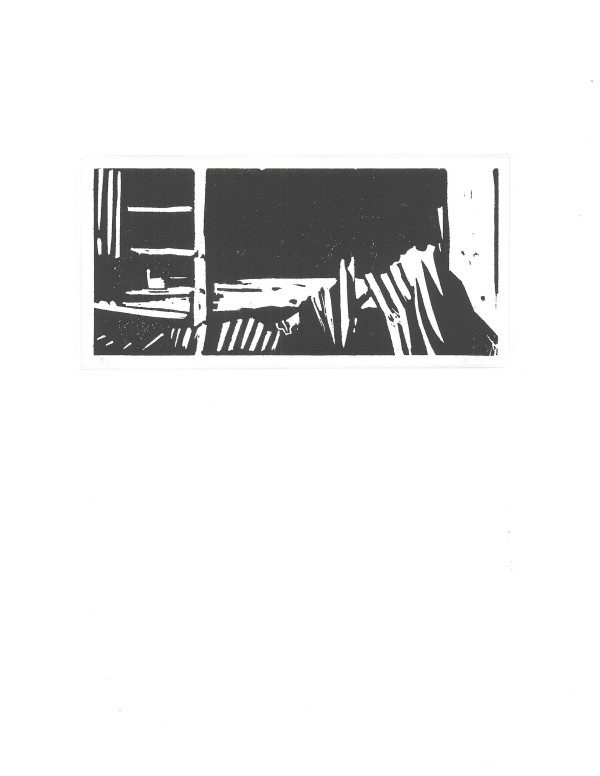 Grafiek en tekeningen | verwrongen golfplaten | oude vervallen schuur | Oscar Pijl | Benthuizen | oudheidskamer | verdwenen monumenten | lost monuments | old barn | rusty wall | art print | graphic art |