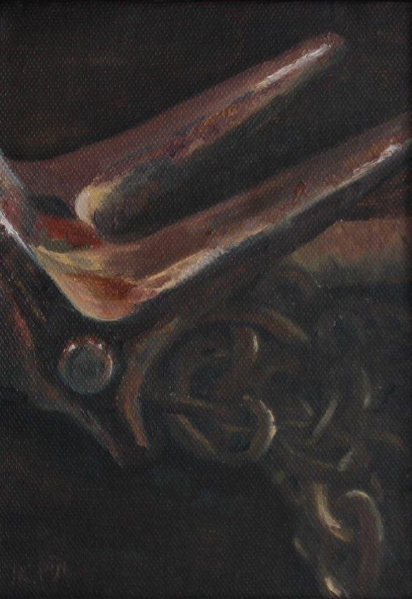 Schilderij | olieverfschilderij | anker | roest | ankerketting | scheveningen | vissershaven | visserij | peche | fishing trawler | anchor | rusty | port of Scheveningen |