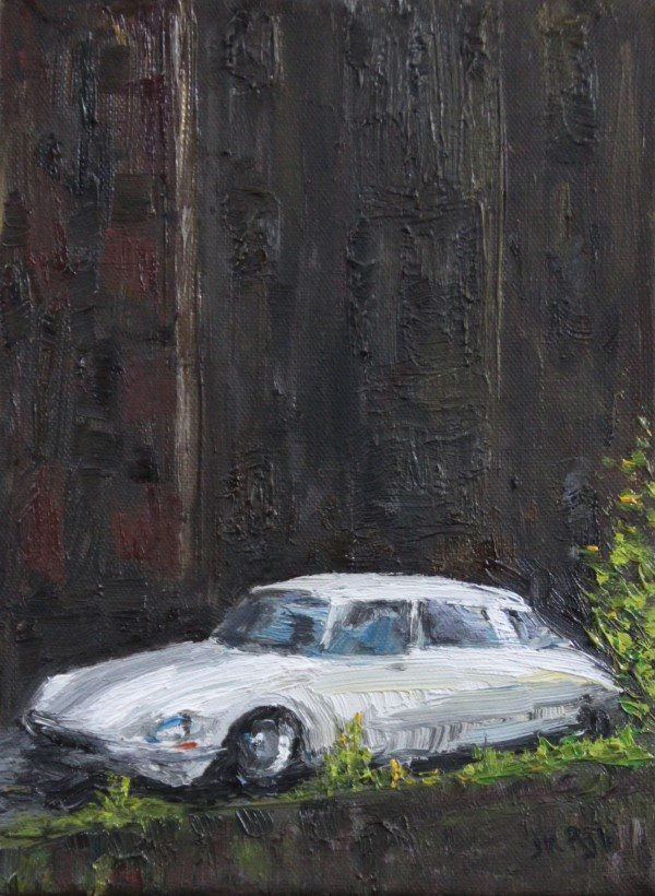 Schilderij | citroën DS | citroën ID | atelier le garage | Citroën art | autokunst | oldtimer | olieverf | car art | youngtimer | classic car | klassieker | Citroën | automobile classique | citrofiel | voiture anciennes | oil painting | old Citroën | classic Ctiroën | old French car | French Citroën | French oldtimer | classic car France | France |