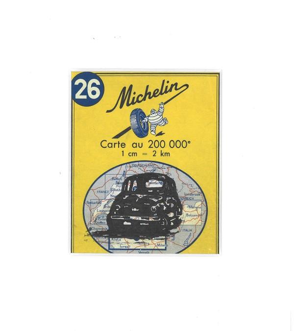 Linosnede | atelier le garage | Fiat 500 | Fiat cinquecento | car art | Fiat kunst | Fiat art | oldtimer | klassieker kunst | classic car | lino cut | print | Michelin wegenkaart | Michelin roadmap | carta stradale Italia | Italië | auto d'epoca |