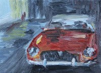 Schilderij | olieverf | painting | MG | MGB | BMC | mg art | car art | klassieker kunst | schilderijtje | oldtimer | British classic car | Atelier le garage | miniatuur schilderijtje | miniature painting | british car | British sports car | classic car | classic car art | automobile | English sportscar | oil painting car | mgowners | motorart | mg car company |