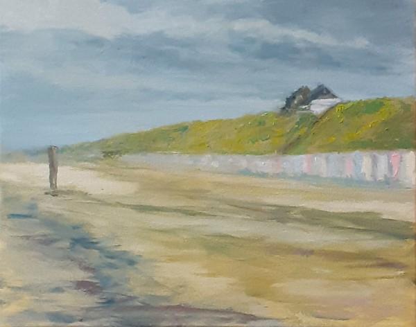 Paintings | oilpainting | painting Domburg | Dutch painter | Zeeland | North sea | Dutch coast | Dutch painting | Dutch artist | Oscar Pijl | Domburg | Dutch light | coast | beach | Domburg after rain | beachhouses Domburg | plein air | en plein air painting |