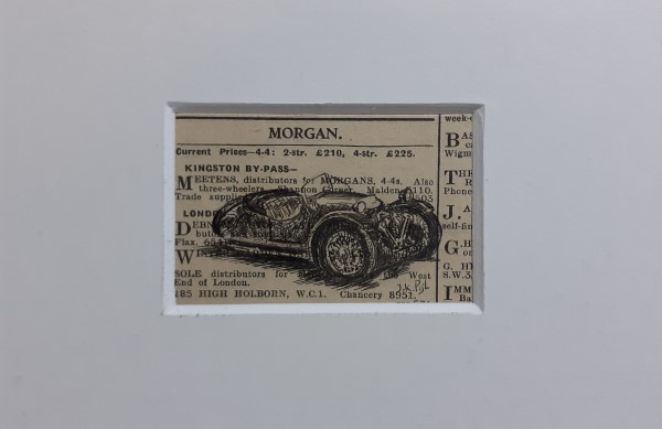 Atelier le garage | drawing | Morgan | Morgan threewheeler | three-wheeler | Morgan 3-wheeler | trike | old Morgan | prewar car | prewar Morgan | tricycle | Morgan tricycle | Morgan jap | Morgan supersports | 1933 | Morgan Motor Company | vintage Morgan | Morgan garage |
