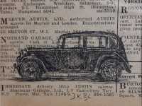 Atelier le garage | drawing | Austin 10 | Austin ten | pre-war Austin | pre-war car | prewar car | prewarcar | classic car | old Austin | vintage car | vintage Austin | British car | British classic cars | voiture anciennes | automotive art | car art | autokunst | prewar | car magazine | The Motor | 1938 | pre-war Austin | British pre-war car |